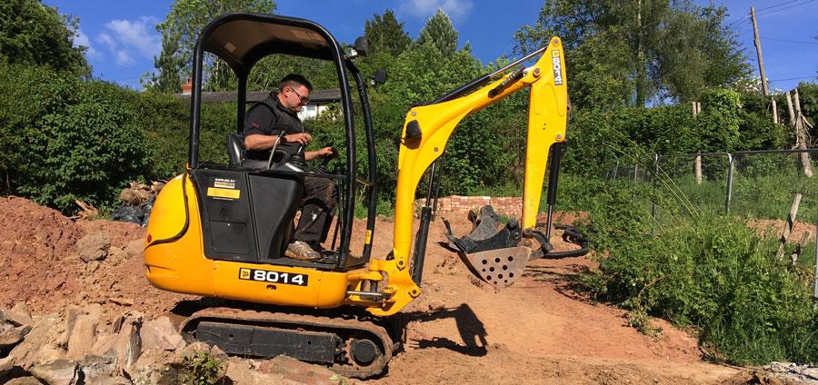 Ledbury Plant Hire mini JCB diggers and dumper trucks for hire