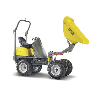 Wacker Neuson 1-ton high lift dumper - Available from Ledbury Plant Hire